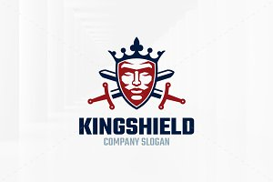 King Shield Logo Template
