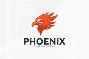 Phoenix Head Logo Template