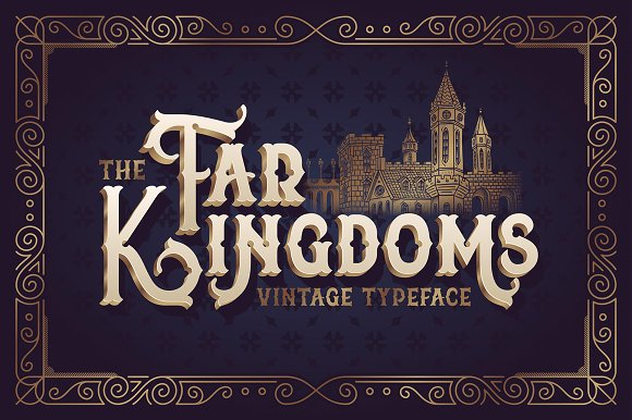 The Far Kingdoms font - Display