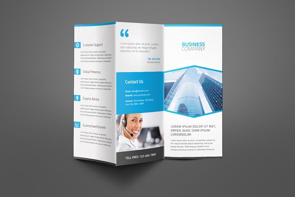 corporate business trifold brochure brochure templates creative market