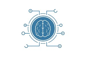 Neural networks icon. Vector