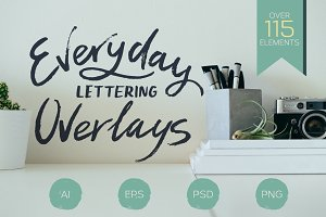 Lettering Overlays collection