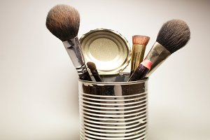 set of brushes for the face