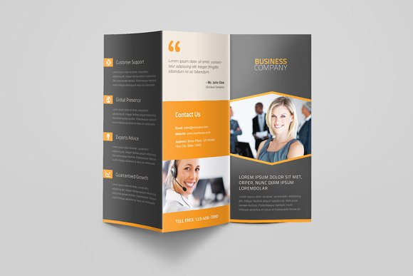 corporate business trifold brochure brochure templates creative