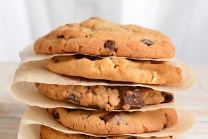 Stack of Assorted Cookies