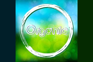 Organic with circle on fresh color