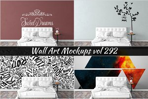 Wall Mockup - Sticker Mockup Vol 292