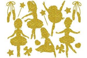 Gold Glitter Ballerina Set