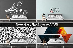 Wall Mockup - Sticker Mockup Vol 293