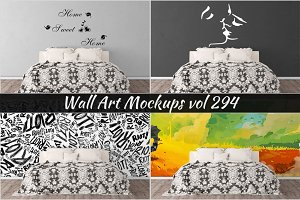 Wall Mockup - Sticker Mockup Vol 294