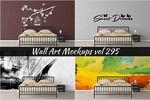 Wall Mockup - Sticker Mockup Vol 295