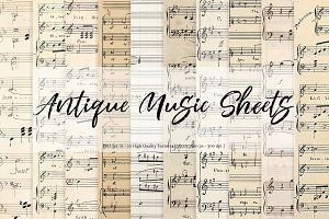 Antique Music Sheets - Set 01