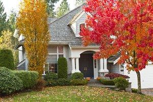 Lovely Autumn Season with home
