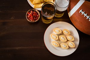 Football party food, super bowl day
