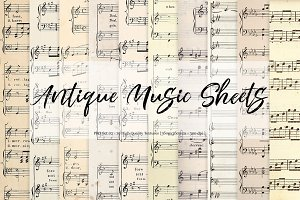 Antique Music Sheets - Set 02