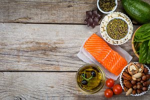 Selection of nutritive food - heart, cholesterol, diabetes