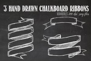 Hand Drawn Chalkboard Ribbons