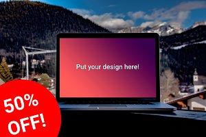 SALE! Mountain MacBook Pro Mock-ups