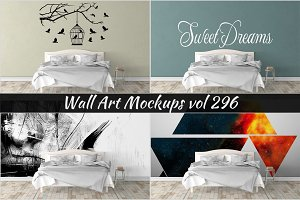 Wall Mockup - Sticker Mockup Vol 296