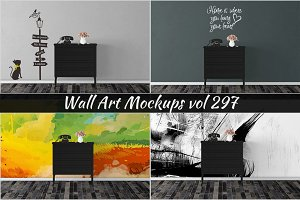 Wall Mockup - Sticker Mockup Vol 297
