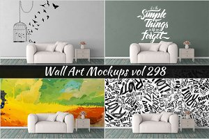 Wall Mockup - Sticker Mockup Vol 298