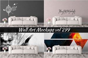 Wall Mockup - Sticker Mockup Vol 299