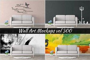 Wall Mockup - Sticker Mockup Vol 300