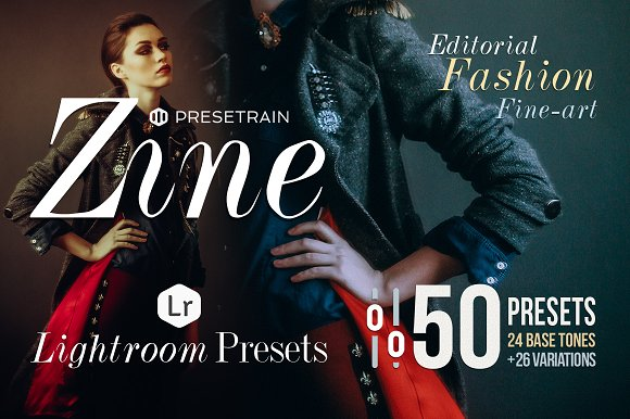 Zine - 50 Fashion Lightroom Presets - Actions