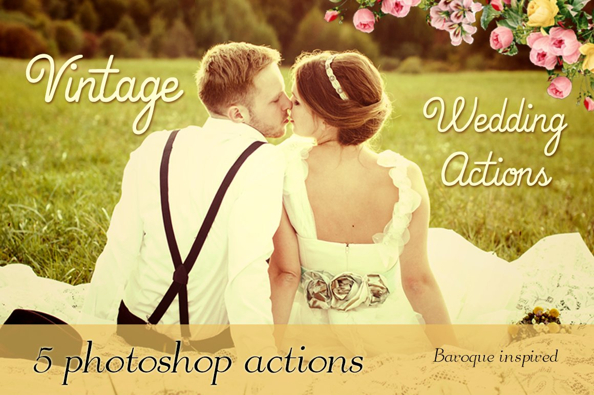 5 vintage wedding photoshop actions actions creative for Top 10 wedding registry stores