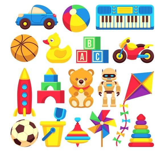 Cartoon Children Toys Icons