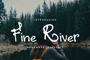 Fine River Hand Drawn Typeface