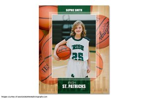 Basketball Memory Mate Template -Ind