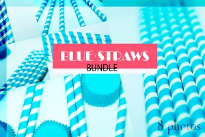 Blue Straws Bundle.