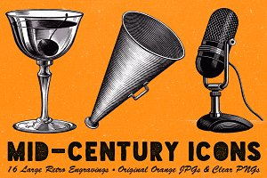 Iconic Mid-Century Engravings