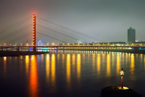 Bridge over the Rhine river