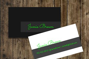 Black Neon Business Card