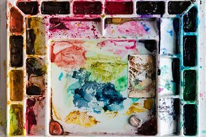 Water color mixing tray for artist