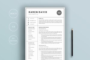 Resume Bu Word Resume Template  The Emily  Resume Templates  Creative Market Resume For Business Owner Pdf with Resumes And Cover Letters Resume  Page  Hospital Resume Pdf