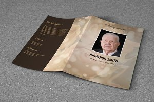 Funeral Program Template-T641