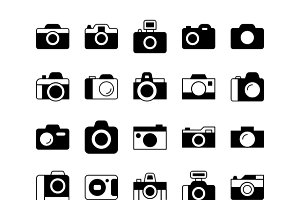 Cameras Solid Icons