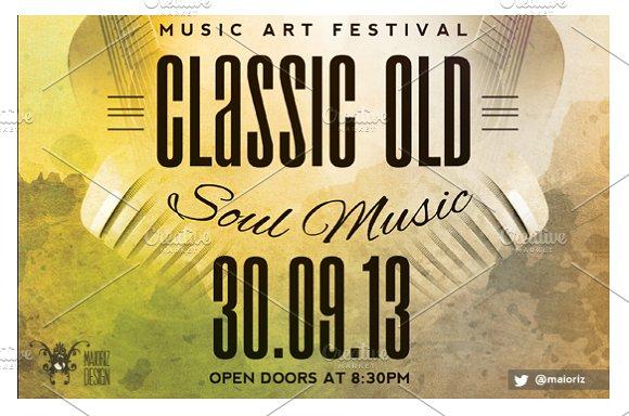 vintage concert flyer flyer templates creative market