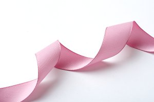 Pink curved ribbon