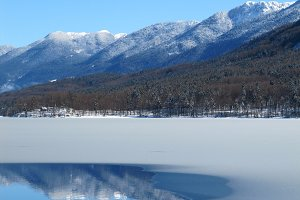 Winter Mountains Reflection