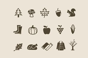 15 Autumn & Fall Icons