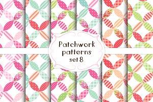 Patchwork seamless patterns set#8