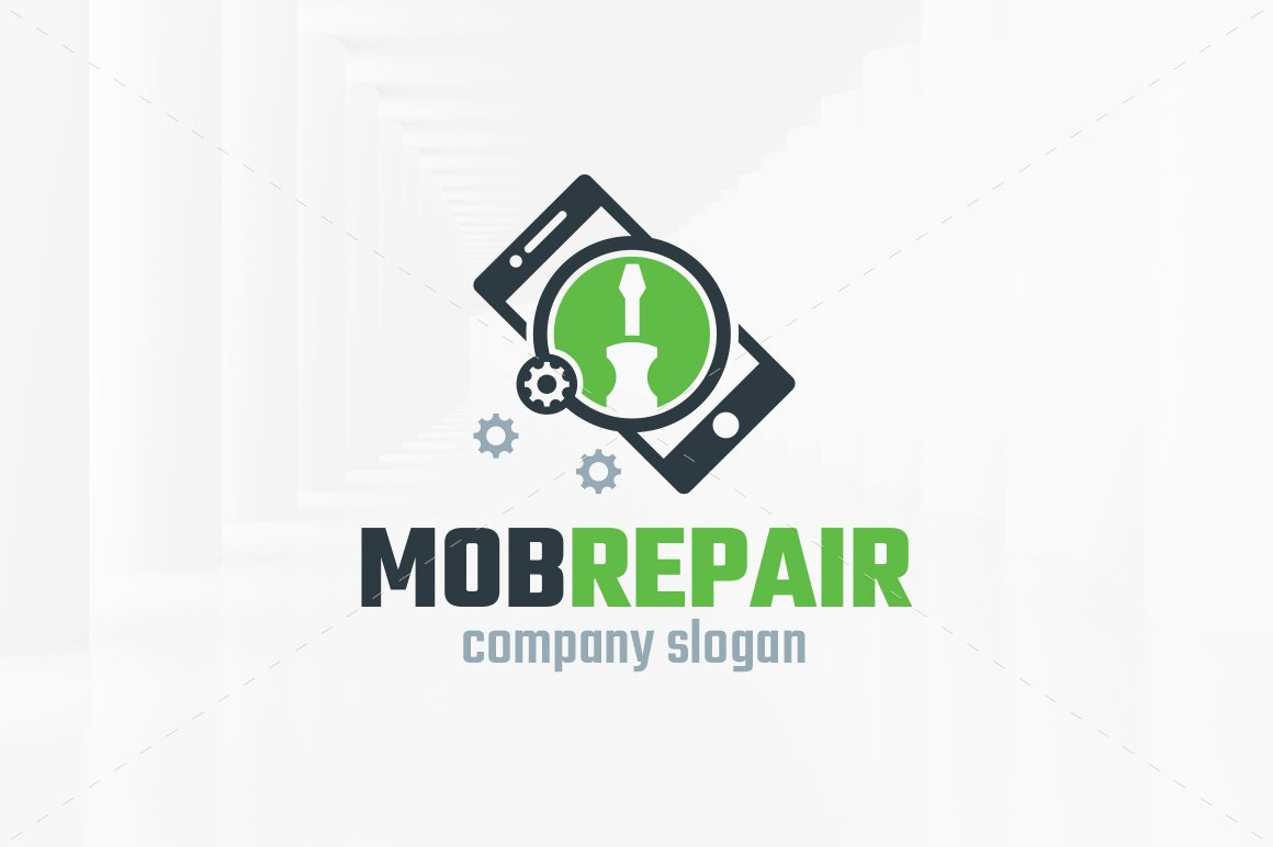 Mobile Repair Logo Template ~ Logo Templates ~ Creative Market