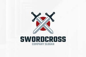 Sword Cross Logo Template