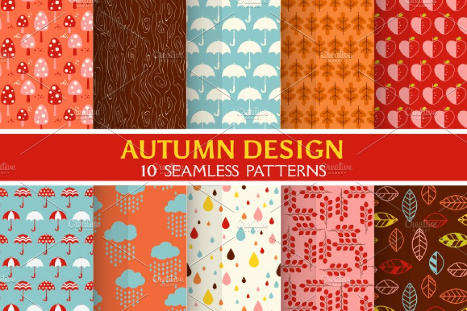 10 Autumn Backgrounds in Illustrations - product preview 8