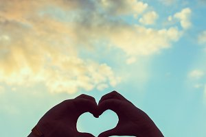 A heart in sky
