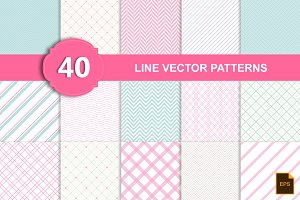 Line vector patterns (40 eps, png)
